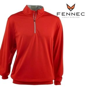 Fennec Golf Mens Pullover 1/4 Zip Red Large